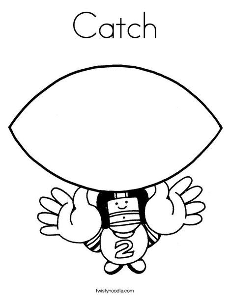 Catch Coloring Page | Writing | Pinterest