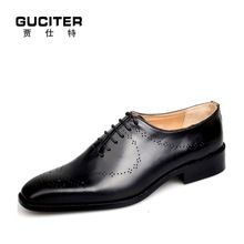 Goodyear welted india oxford men's shoes hand made shoes men British high-grade leather customized business blake craft import