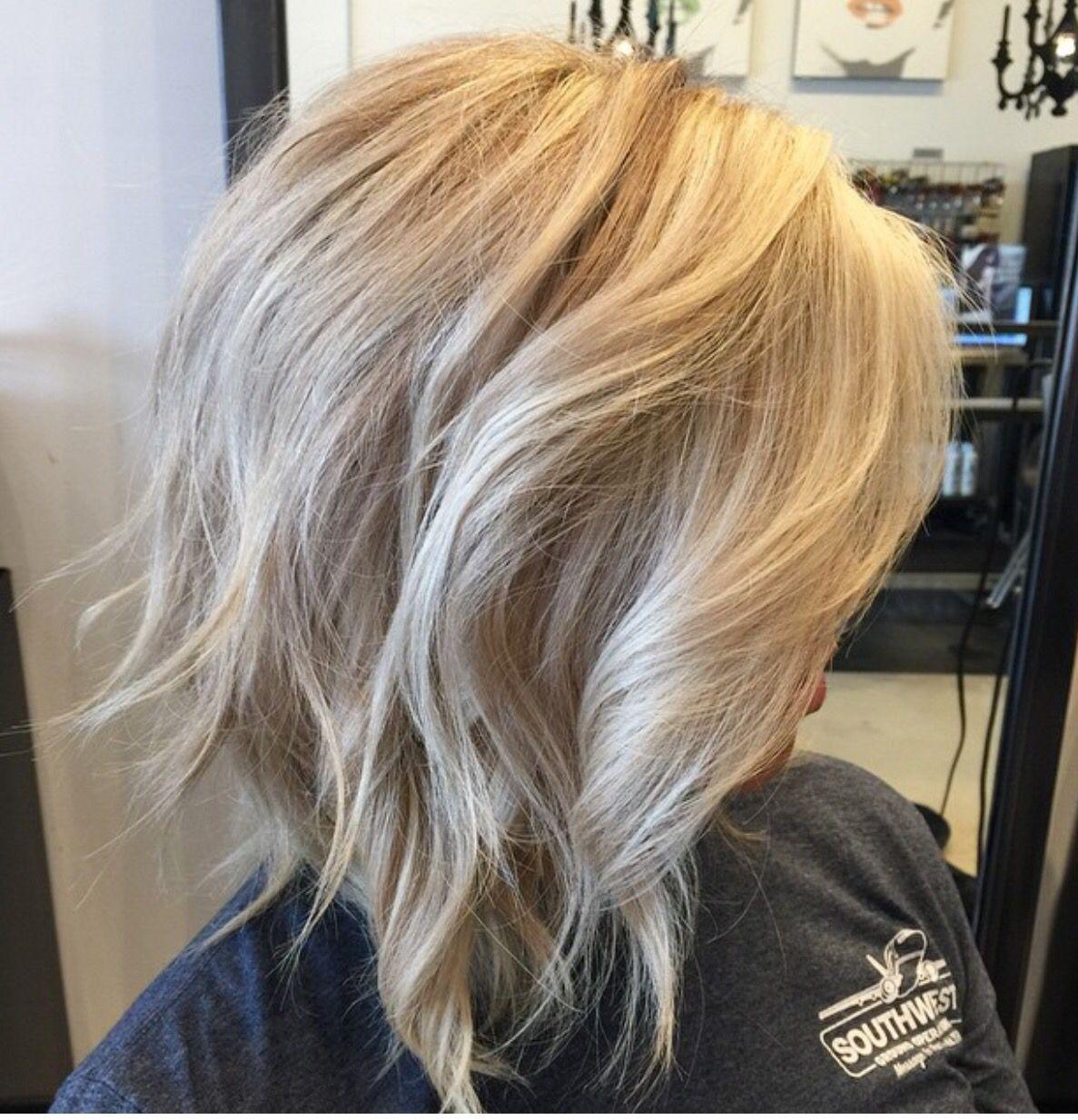 Blonde Hair Blonde Lob Bob Haircut Texture Bob Aveda Blonde
