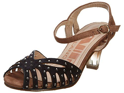 Air Balance Black Brown Combo Sandals Shoes With Heels Womens Style  Abs1340 Size 6 -- Check this awesome product by going to the link at the image.