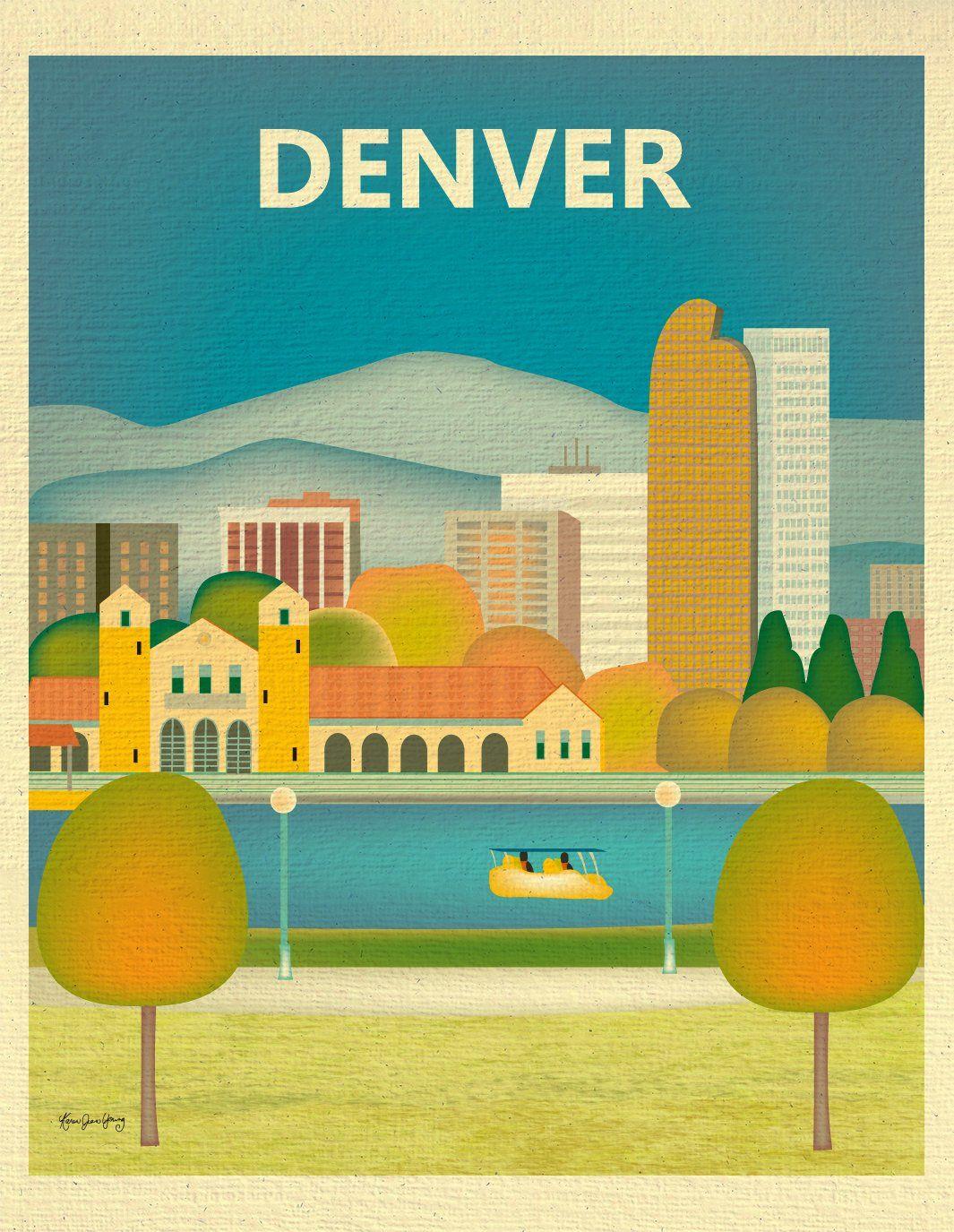 Denver, Colorado - Vertical | Products | Pinterest | Bright color ...