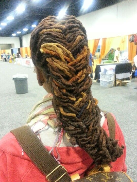 Fishtail Braids On Dreads Natural Hair Styles Hair