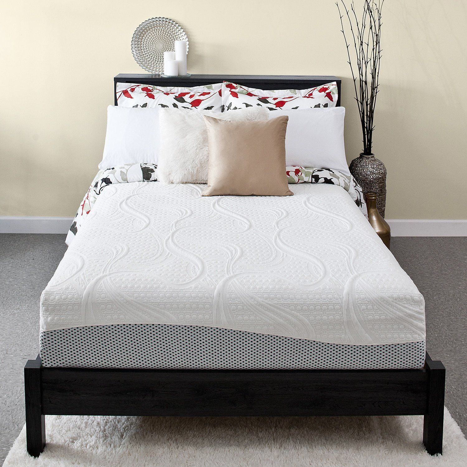 Priage 12 Memory Foam Mattress King White * Learn more by