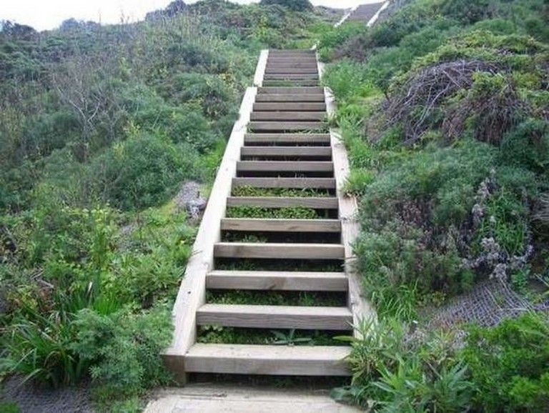 30 Exciting Wooden DIY Stairs Designs For Outdoor Page 9