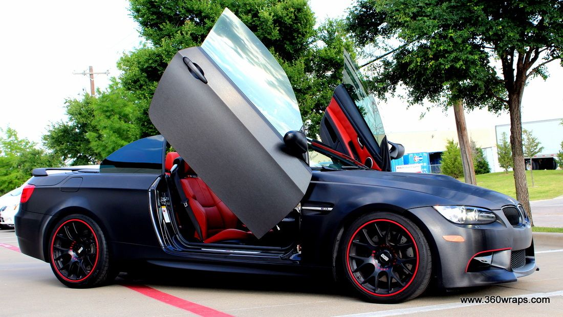 Bmw M3 Hardtop Convertible Black Brushed Steel With Carbon Fiber Wrapped Accents With Lambo Doors Carbon Fiber Wrap Bmw M3 Lambo
