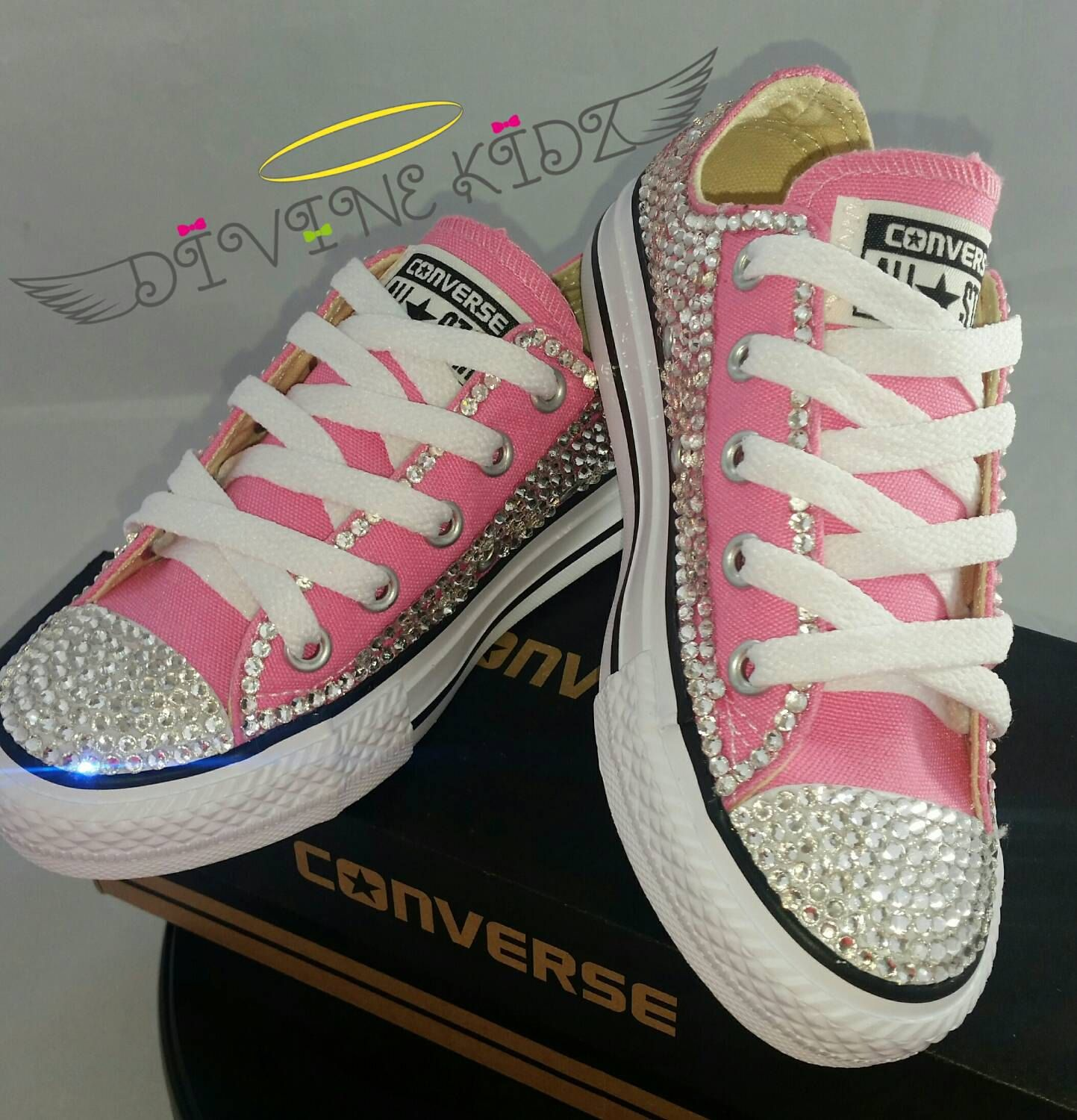 Personalized Wedding Slippers Bridal Party Slippers: Full Bling Wedding Converse- Bridal Sneakers- Custom