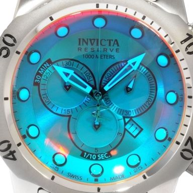 Invicta Reserve Men S Venom Tinted Crystal Stainless Steel Bracelet Chronograph Watch 0967 Nextdaywatches C Invicta Stainless Steel Bracelet High End Watches
