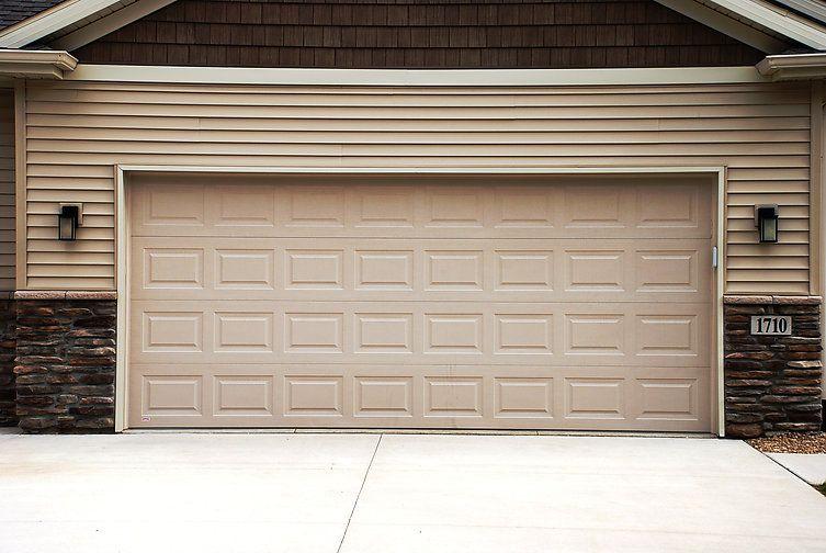Traditional Steel Model 180 Sandstone Standard Panel Design Garage Door Styles Residential Garage Doors Fiberglass Garage Doors