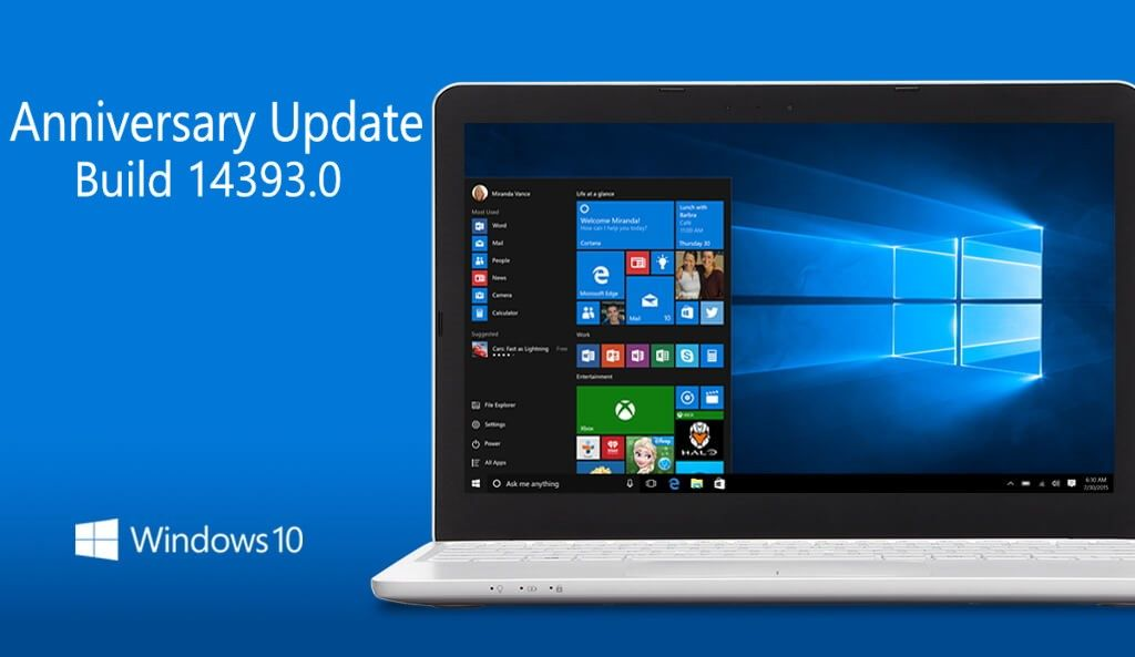 New in Windows 10 Build 14393 and Mobile 10.0.14393