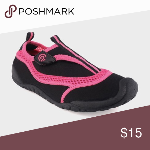 37109202766e Spotted while shopping on Poshmark  Girls Pink   Black Champion Water Pool  Shoes NWT!