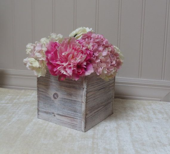 Wood Vase Large   Planter Box Rustic Wedding by FloralAccents, $16.95