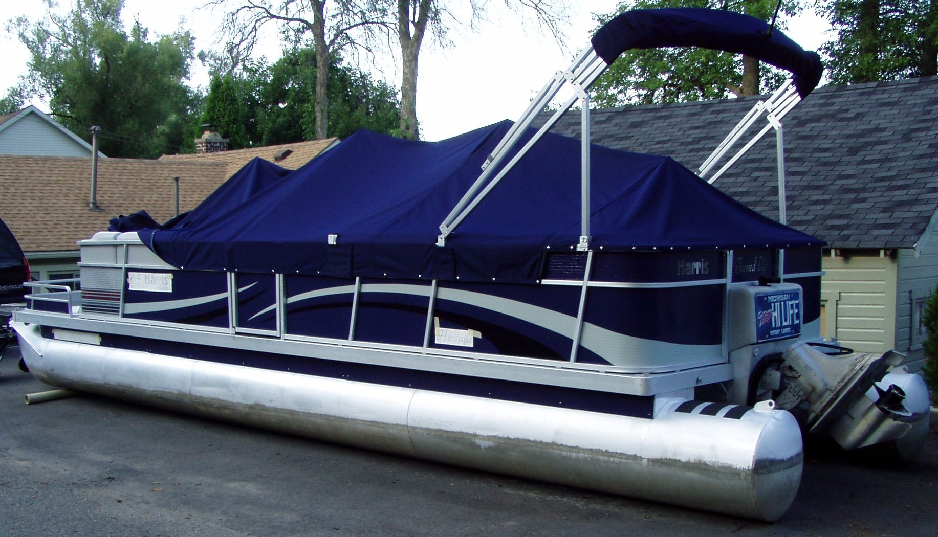 Pontoon Boat Wrap By Steel Skinz Graphics Wwwsteelskinzcom - Decals for pontoon boats