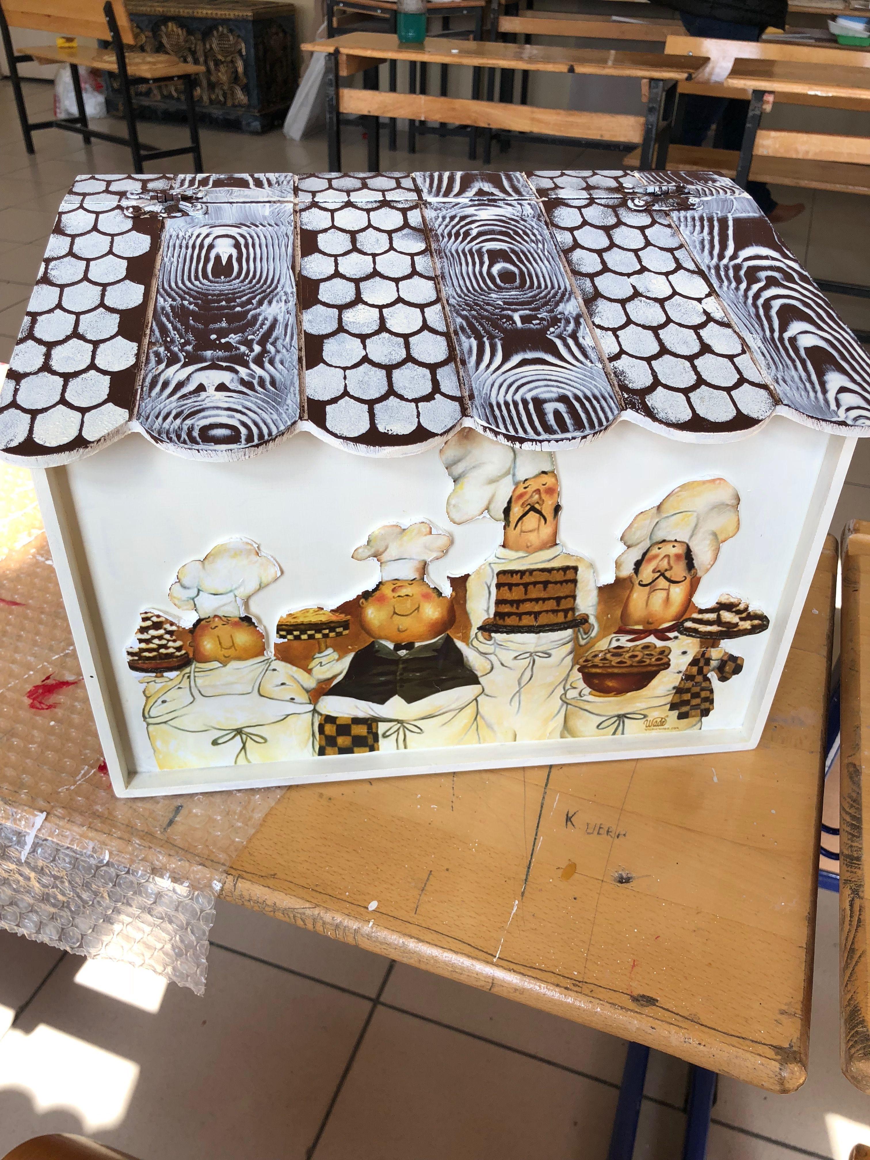 Ekmeklik Ekmek Sepeti Ekmek Kutusu Ahsap Boyama Sepetler Ekmekler