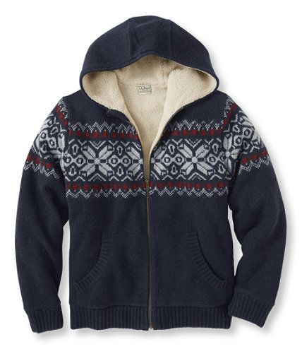 Sherpa Fleece-Lined Sweater, Hoodie Fair Isle: Cardigans and Full ...