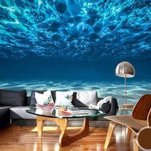 Custom Fotowand Papier 3D Diepe Zee Landschap Grote Muurschildering ...