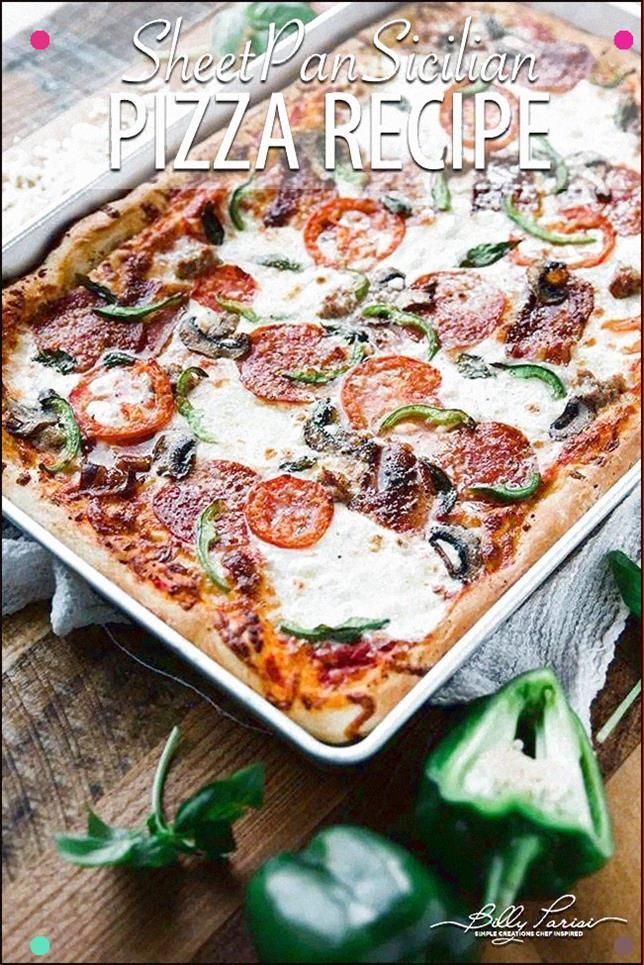 Sicilian Pizza  This Unbelievably Delicious Pizza Recipe Is A Staple In Our House My Grandma Would Make This Sicilian Pizza Pretty Regularly And Wow Is It Delicious