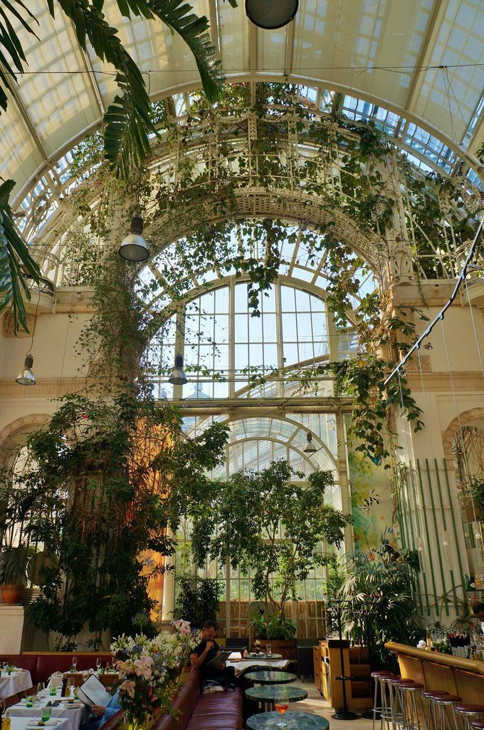 Palm House interior in the Burggarten-Vienna, Aust