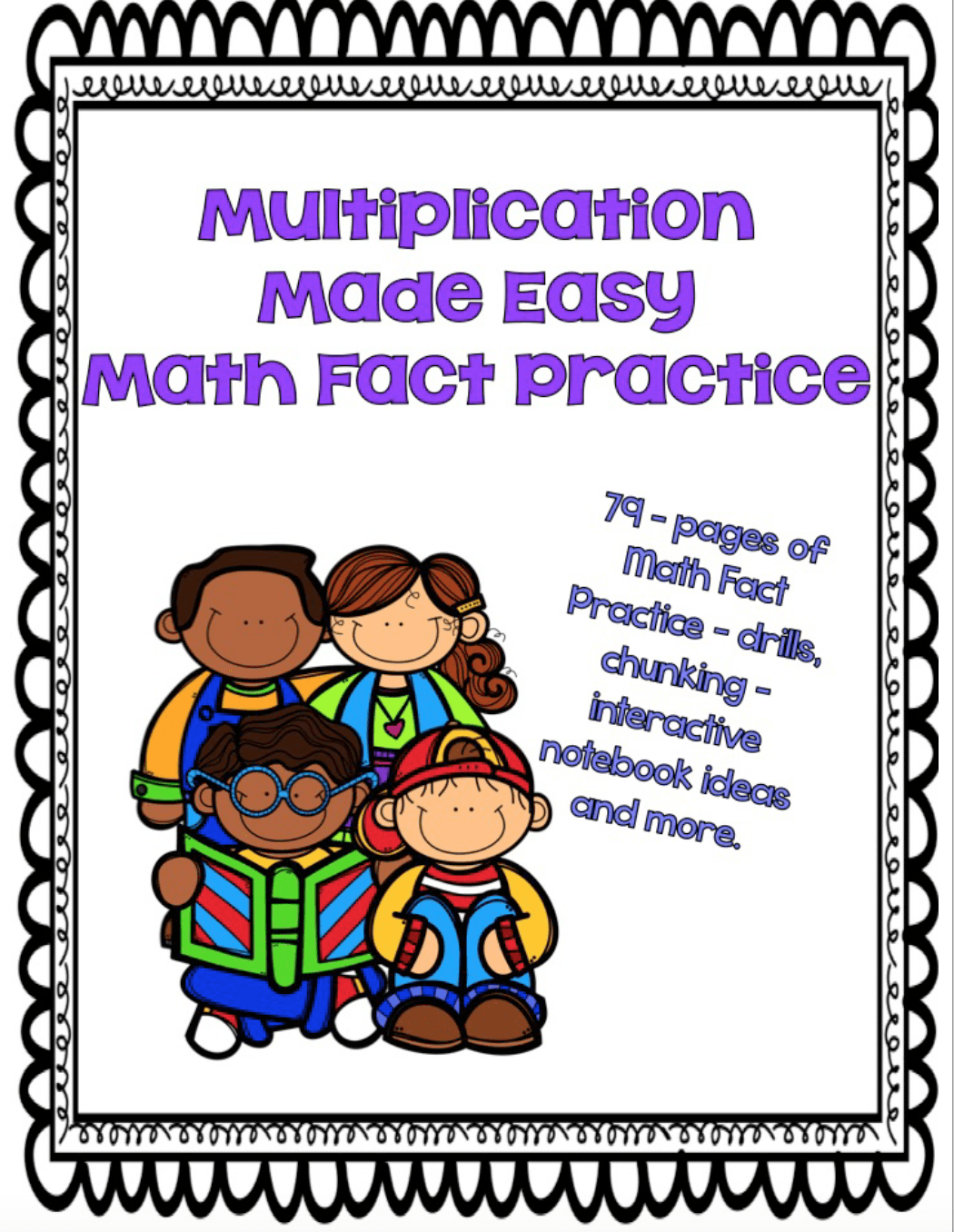 Multiplication Facts Made Easy: Math Fact Practice Chunking   Math ...