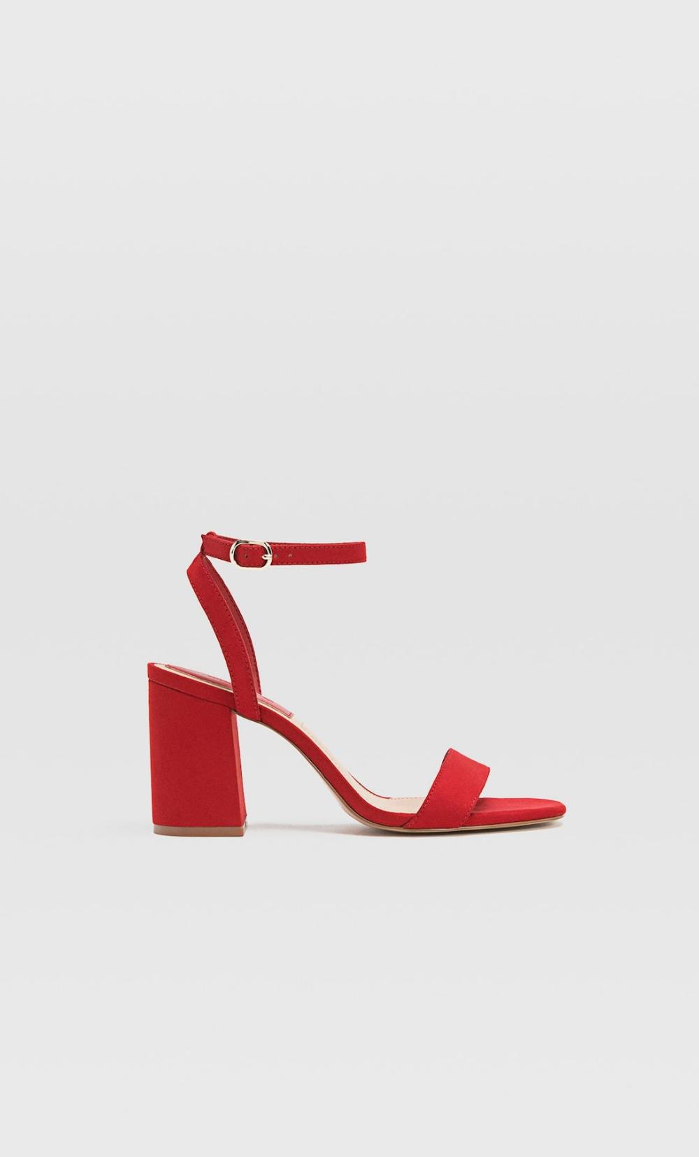 Sandales à talon carré rouges en 2020 | Sandales à talons
