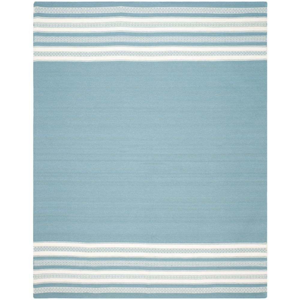 Safavieh Dhurries Turquoise 8 ft. x 10 ft. Area Rug