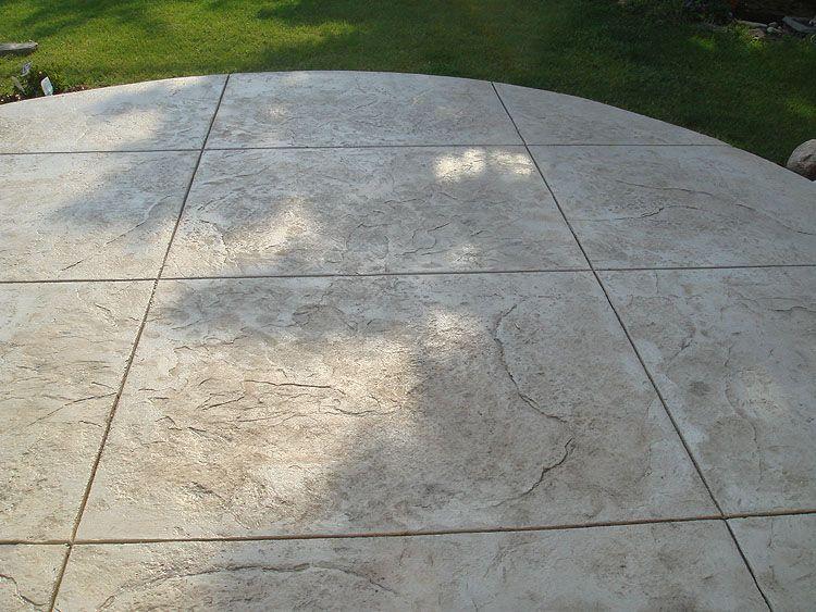 Decorative Texture Stamped Concrete Patio Nice Texture U0026 Color