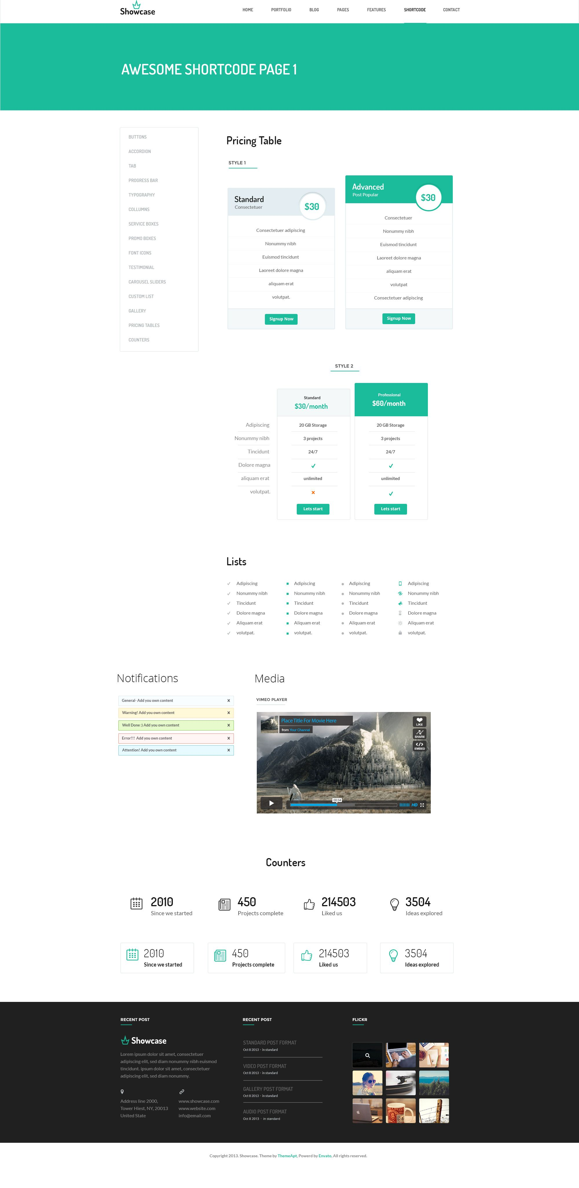 Showcase- Multpurpose PSD Template   Psd templates ...