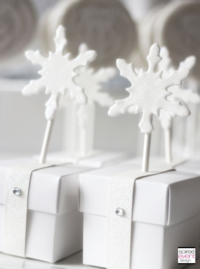 f90565b3845 Winter White Bridal Shower Dessert Table by Soiree-EventDesign featuring  these unique shower favors! Place the bride s favorite candy inside these  favor ...