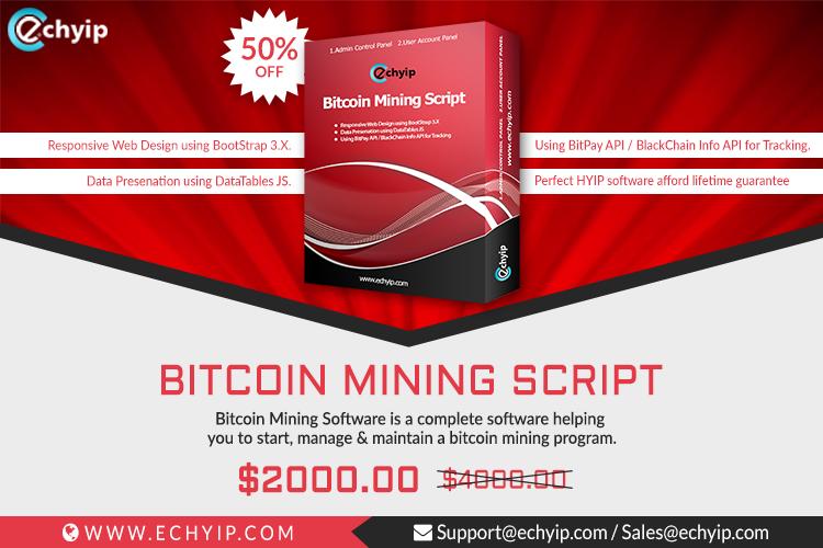 bitcoin mining website script