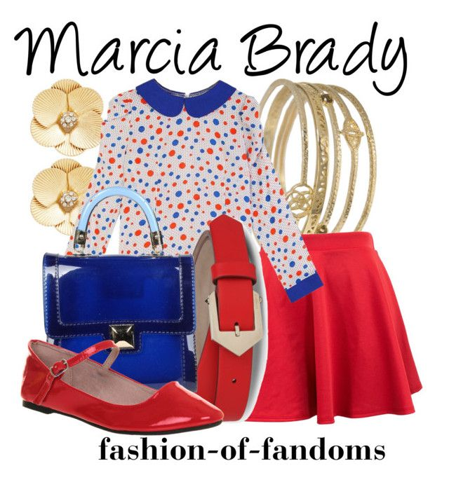 """Marcia Brady"" by fofandoms ❤ liked on Polyvore featuring Kendra Scott, Chicnova Fashion, Givenchy, Hervê Guyel and Office"