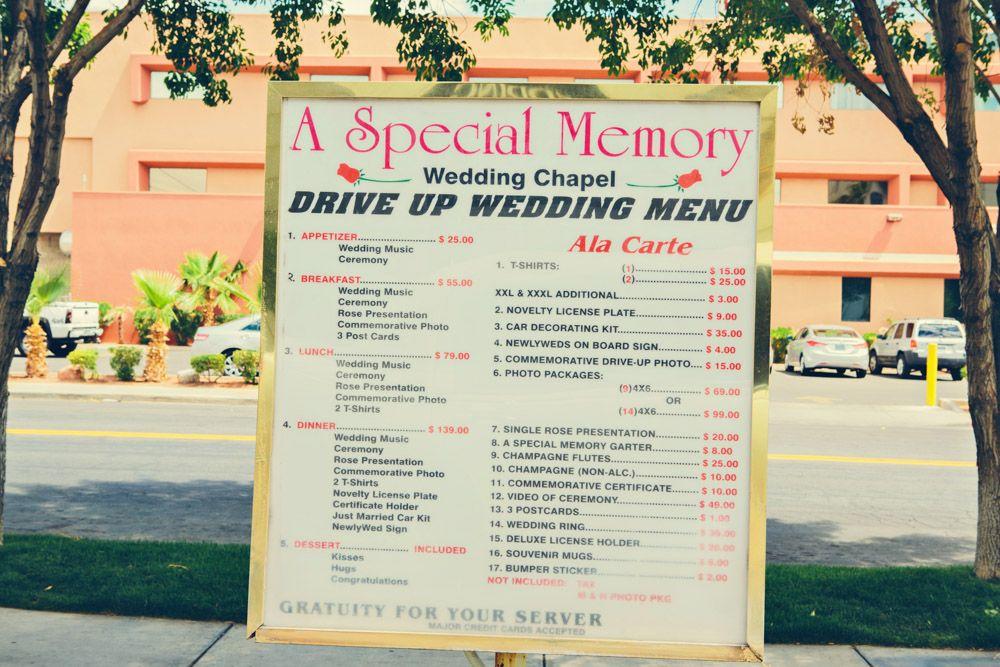 Las vegas drive thru wedding vegas wedding venue