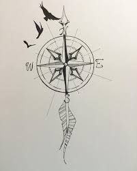 Related image -   21 compass cross tattoo