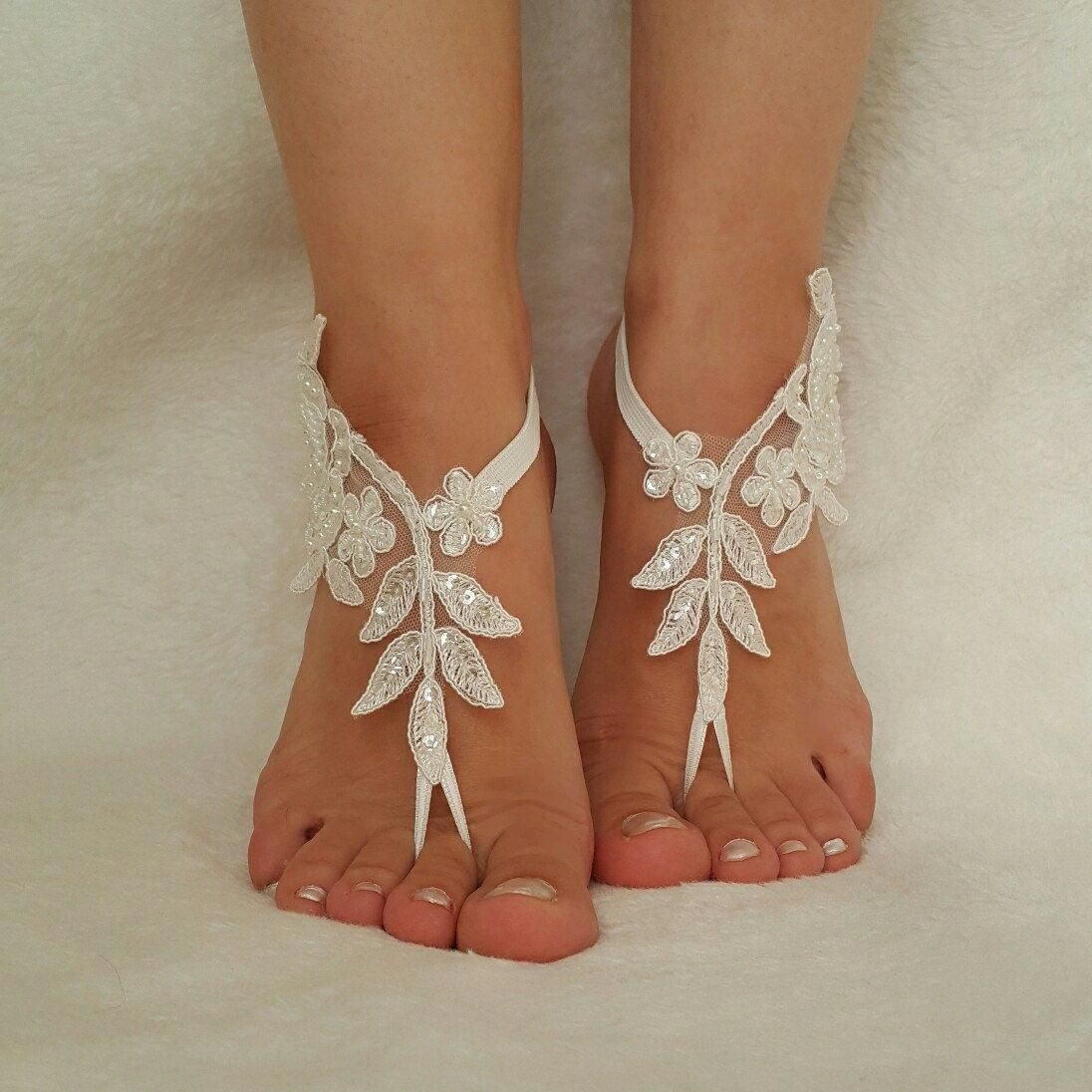 6 colors beach wedding sandals bridal anklet bridesmaid gift lace bangle  feet accessories foot jewelry flexible wrist steampunk bellydancing  weddingday ...