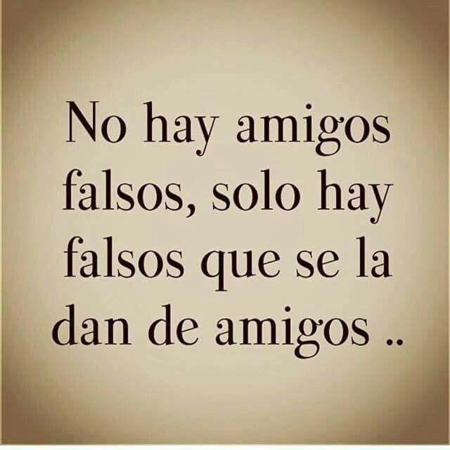 No Hay Amigos Falsos Si No Falsos Amigos Amigos Falsos
