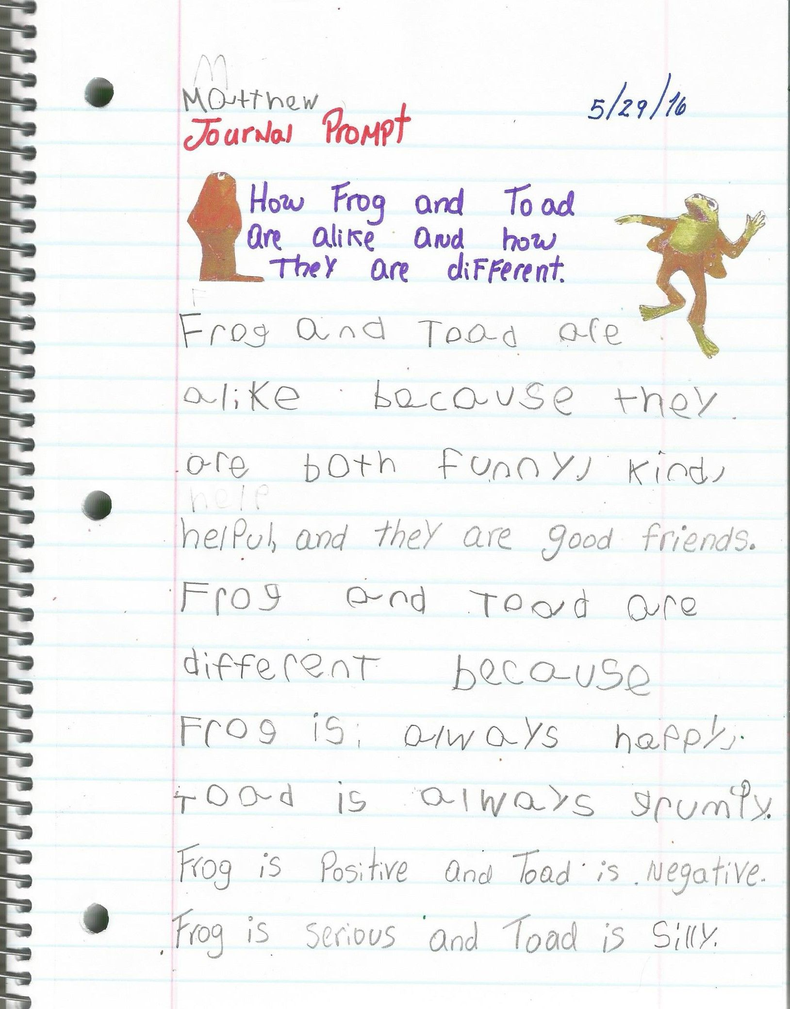 Write sentences to describe how frog and toad are alike and how write sentences to describe how frog and toad are alike and how they are different pooptronica