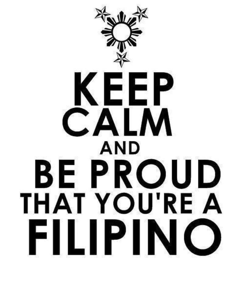 I'm Proud To Be A Filipino, I Don't Want To Be Anything