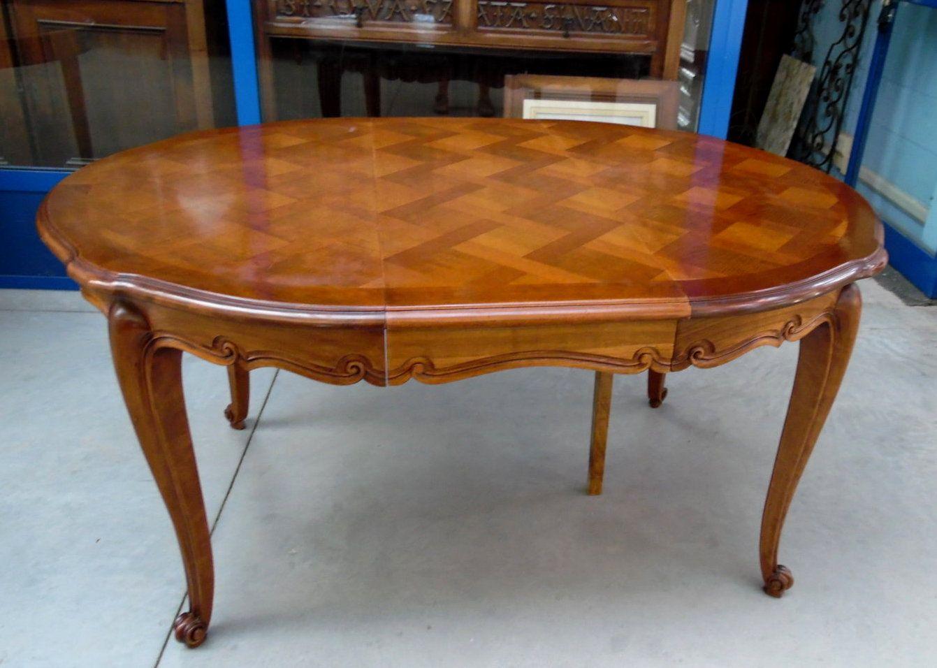 Tavolo Rotondo Ovale Provenzale In Stile Luigi Xv Ciliegio