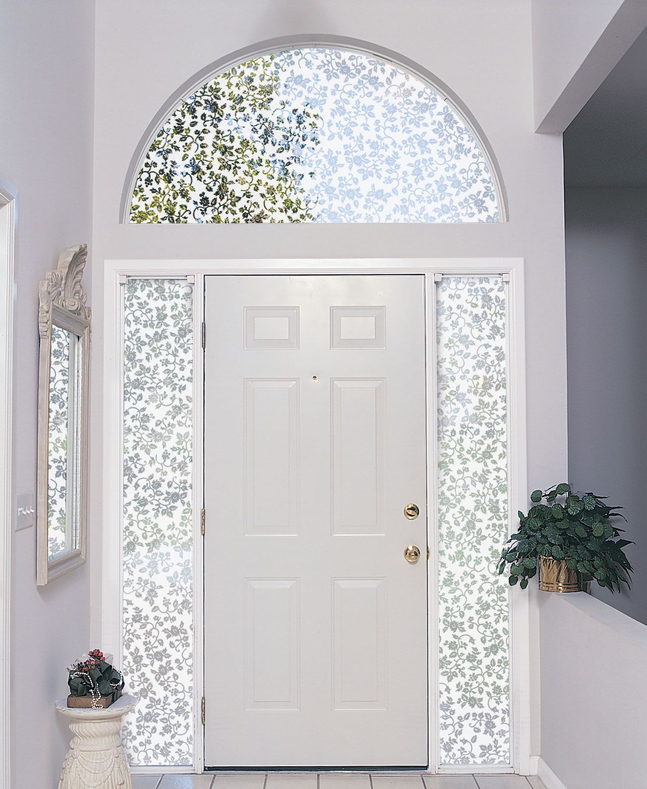 Decorating Arched Windows Front Doors With Windows Arched