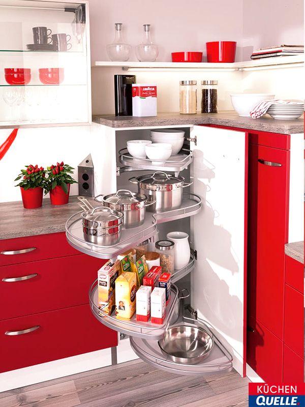 Stauraum für Ihre Küche beim Le-Mans-Eckschrank drehen sich die - www küchen quelle de