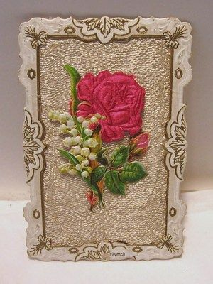 Vintage cloth/paper notecard