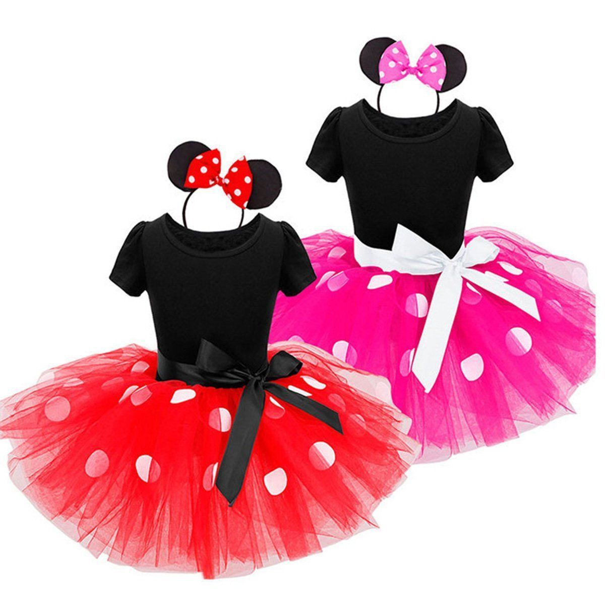 0d7513e2d $7.99 - Kids Girls Baby Toddler Minnie Mouse Outfits Party Costume Tutu  Dress + Headband #ebay #Fashion