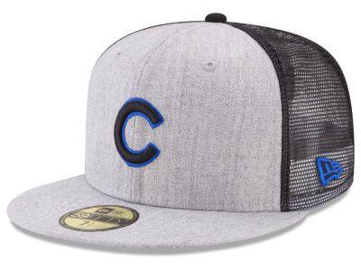 Chicago Cubs MLB New School Mesh 59FIFTY Cap Hats  2b95ebf9f87