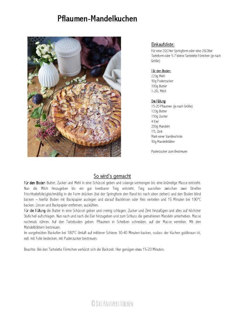 Pflaumen-Mandelkuchen: Hallo Herbst!