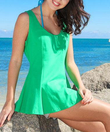 Love this Green Peplum Tank by La Moda Clothing on #zulily! #zulilyfinds