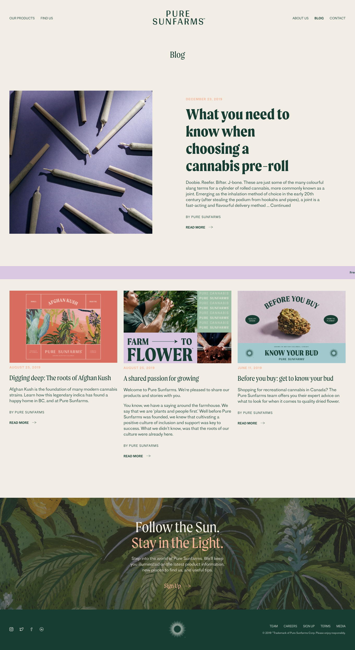 Pure Sun Farms Blog In 2020 Website Design Blog Pure Products