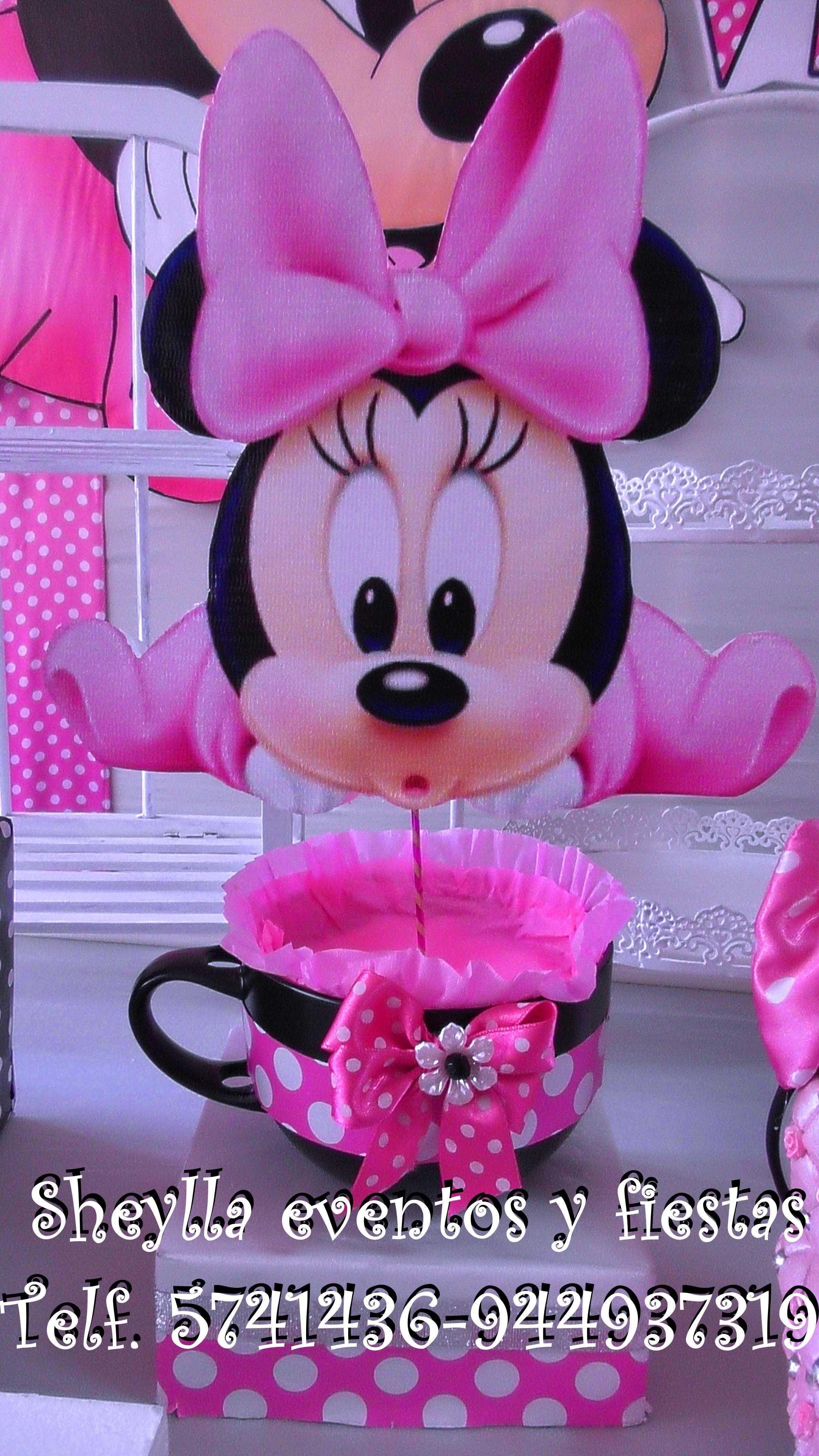 Centro de mesa, Minnie, bebe | Minnie coqueta , Bebe, boutique ...