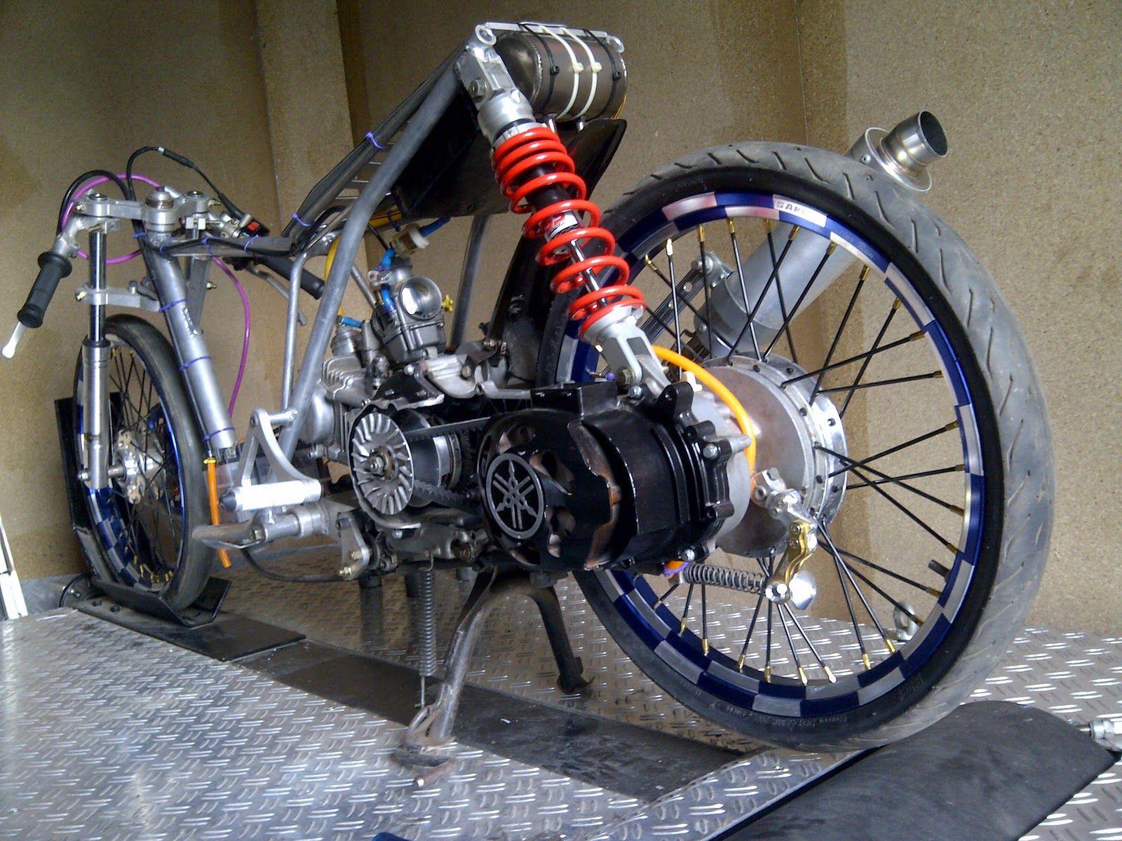 contoh modifikasi mio drag 300cc