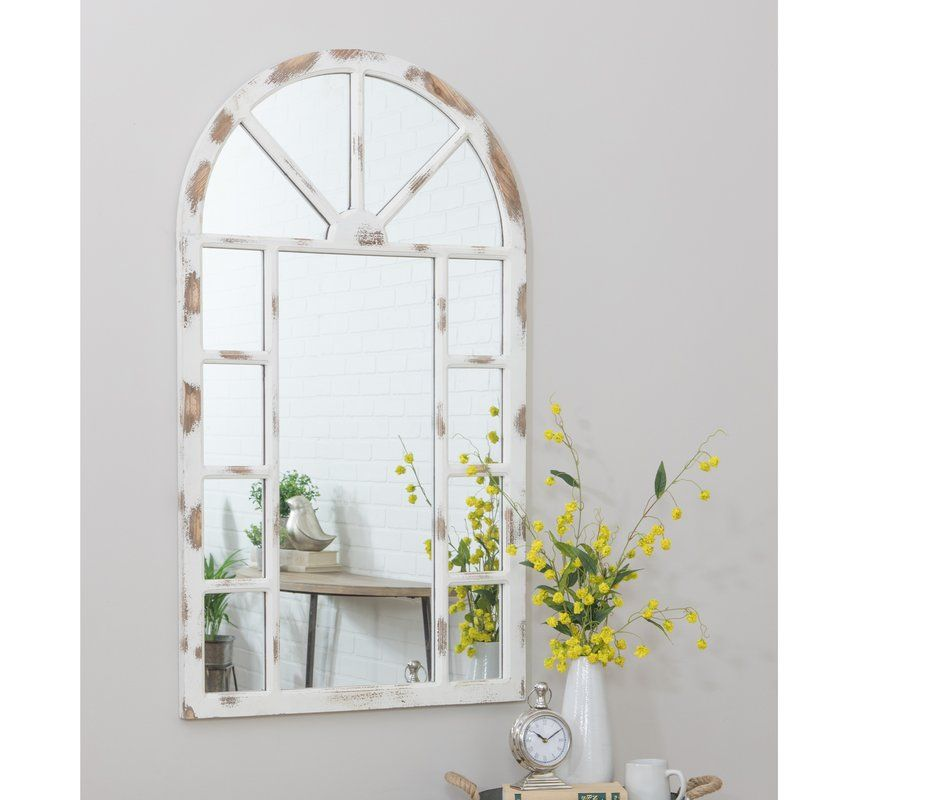 Kirwan Farmhouse Arch Wall Mirror Mirror Wall Mirror Wall Decor Framed Mirror Wall