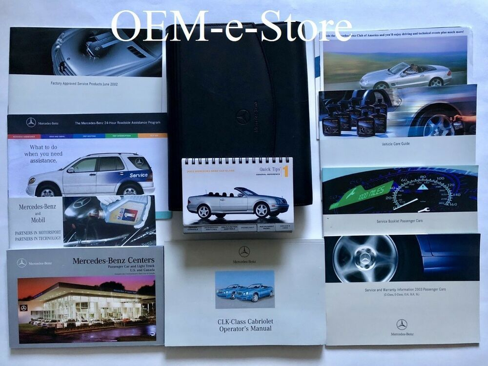 Details About 2003 Mercedes Clk Clk320 Clk430 Convertible Cabriolet Owners Manual User Guide With Images Mercedes Clk Vehicle Care Cabriolets