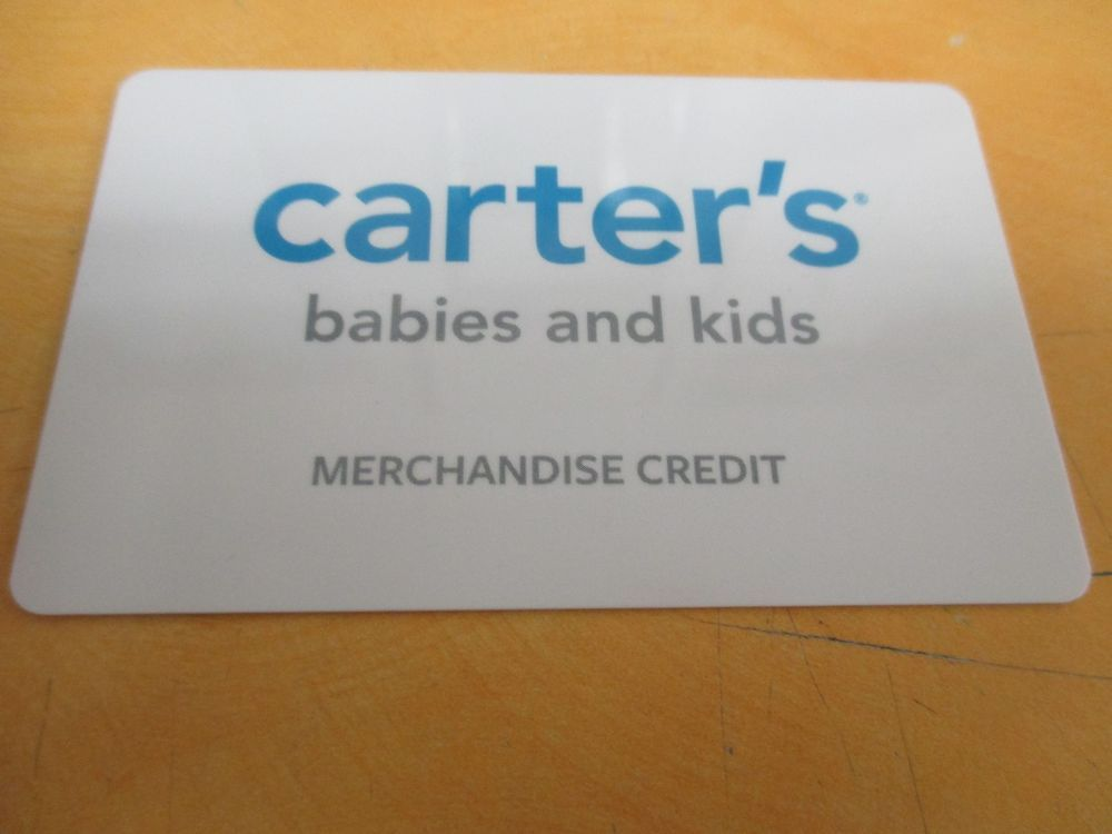 carters gift card numbers