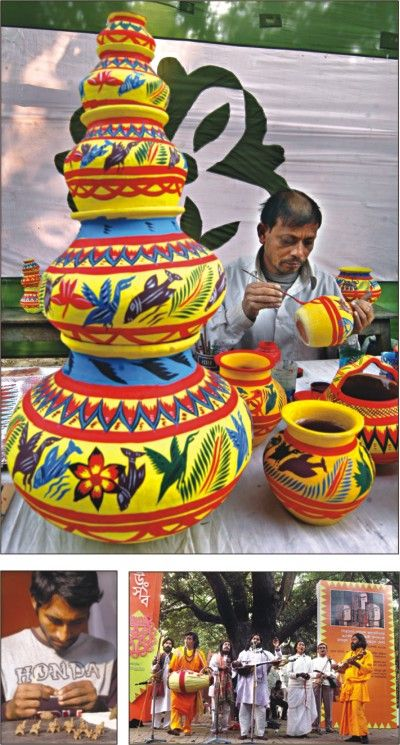 Paint On Soil Made Pot Bangladesh Pohela Boishakh Google Search Painting Culture Art Art Projects